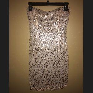 ✨Silver Sequin Dress By Trixxi✨